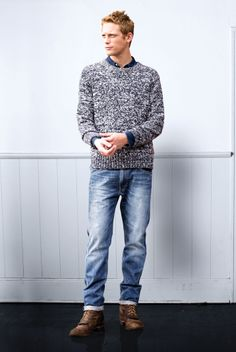 Sweter + denim = <3 Ford Models, Product Launch, Normcore, Denim, Fashion, Moda, Fashion Styles, Fashion Illustrations, Jeans