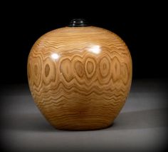 Butternut Hollow Wood Vessel, by woodturner Ray Asselin. Bowlwood.com