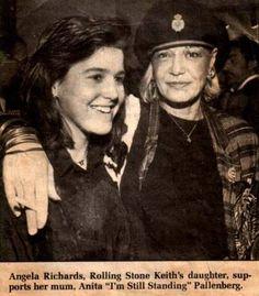 Angela Richards with her mum Anita Pallenberg