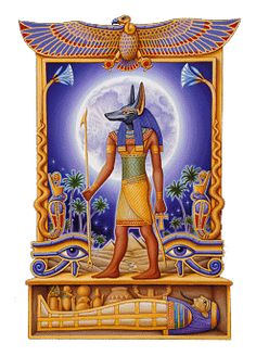 Anubis is the Egyptian god of the Underworld, and is the patron god of lost souls and funeral rites. Anubis is the son of Set and Nephthys. Egyptian Mythology, Ancient Egyptian Art, Ancient History, Egyptian Tattoo, Egyptian Drawings, Egypt Art, Ancient Civilizations, Gods And Goddesses, Deities