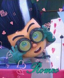 Oh, Romeo what a cutie. Romeo Pj Masks, Evil Geniuses, Kissing Him, Fnaf