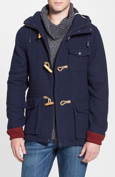 Hooked on this toggle duffle jacket.