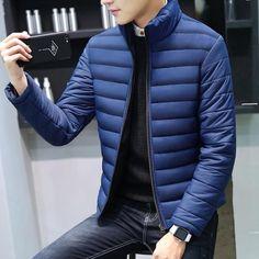 2018 Men Winter Jackets Coat Padded Thicken Parkas Men Fashion Stand C – geekbuyig Mens Winter Coat, Winter Jackets, Men's Jackets, Man Winter Style, Man Winter Fashion, Winter Outfit For Men, Casual Winter, Fashion Mode, Mens Fashion