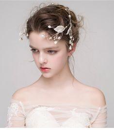 Мисс Дива синий серебро листьев ленты для волос корейских аксессуары свадебный головной убор волосы брак свадебное платье с драгоценностями -tmall.com Lynx