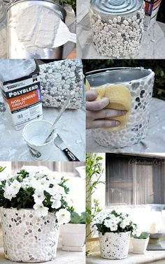 Diy planters - Options for DIY Garden Globes garden gardendesig gardenideas gardening If you like to spend time in your garden, then you should Diy Concrete Planters, Concrete Crafts, Concrete Garden, Diy Planters, Diy Home Crafts, Garden Crafts, Diy Garden Decor, Garden Projects, Arts And Crafts