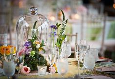 Glass cloche for a delicate touch