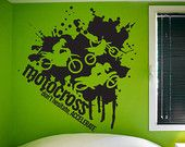 Motocross - Don't Hesitate, Accelerate Vinyl Wall Decal (Interior & Exterior Available) Sports Wall Design, Dirt Bike Vinyl, Racing Decal
