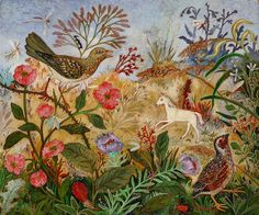'Magic' by Anna-Pugh. Anna Pugh is one of England's leading folk artists. Born in Kent in she has been painting her whole life. Her parents were a vet and a gardener, which set the tone for her. Modern Folk Art, Sculptures, Drawings, Naive Art, Painting, Whimsical Art, Illustration Art, Art, Folk