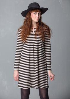 Kjole i økobomull med basisstriper – Verdens beste striper! – GUDRUN SJÖDÉN – Kläder Online & Postorder