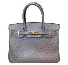 Hermes Birkin 30 Bag Gris Agate Ostrich GHW Stunning Hermes Birkin 30cm bag  made from Ostrich 8d7e3a6932