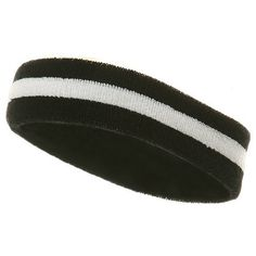 Terry Stripe Headband-Black White One Size fits Most. Hand Wash only. Soft 8f38bec65706