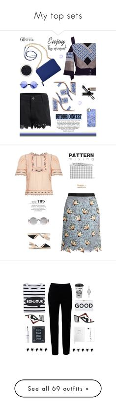 """""""My top sets"""" by molly2222 ❤ liked on Polyvore featuring Roland Mouret, ZeroUV, TravelSmith, Casetify, 60secondstyle, outdoorconcerts, Edie Parker, self-portrait, Rebecca Taylor and Soludos"""
