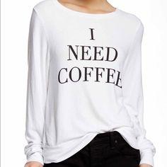 "Wildfox ""I Need Coffee"" ☕️ Jumper ☕️ Wildfox Sweaters Crew & Scoop Necks"
