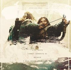 Even Death Cannot Separate Us Because I Will Never Leave Your Side. Oh my gosh the feels.I literally about broke into tears just now :'( Legolas And Thranduil, Fili And Kili, One Does Not Simply, Ps I Love, J. R. R. Tolkien, Into The West, Thorin Oakenshield, The Hobbit, Hobbit Art