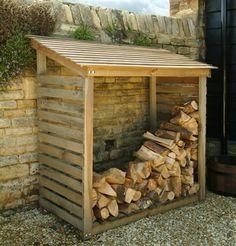 wooden log store / firewood storage