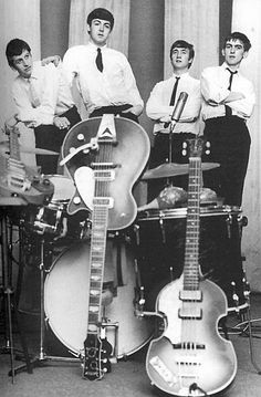 The Beatles at their first recording session in 1962.