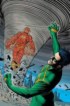 The Flash vs. the Weather Wizard - by Brian Bolland