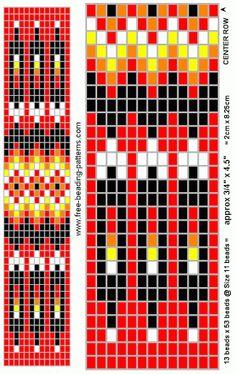 Native Indian Charts - Majida Awashreh - Álbuns da web do Picasa Native Beading Patterns, Beadwork Designs, Seed Bead Patterns, Beaded Bracelet Patterns, Peyote Patterns, Indian Beadwork, Native Beadwork, Native American Beadwork, Collar Indio