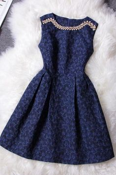 Retro Luxury Diamond Jacquard Collar Sleeveless Dress
