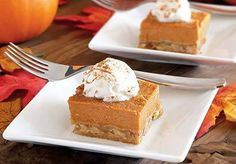 Paleo Pumpkin Pie Bars Recipe. Gina rating: 4/5 really tasty, but the pumpkin part is not very firm, even after chilling.