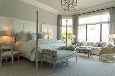 Beautiful, calming Master Bedroom, and perfect furniture placement!!