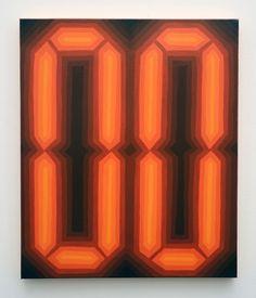 David Malek - Zero Zero #2, 2007, Enamel on canvas, 24 × 20 in, 61 × 50.8 cm
