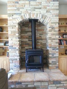 built in pellet stove
