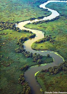 Photo of Delta Dunarii - Danube Delta aerial view Bulgaria, Visit Romania, Turism Romania, Romania Facts, Danube Delta, Romania Travel, Bucharest Romania, Danube River, Seen