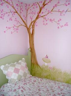 Girls room Tree Mural