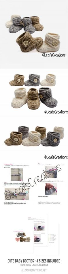 Soft baby booties crochet pattern