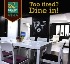 Hungry and tired? At Quality Inn Viha, you can enjoy an amazing dining experience in the confines of your hotel room! For more info Call +91435 2555555 or visit http://www.qualityinnviha.com. #QualityInnViha #HotelsinKumbakonam #Roomservice