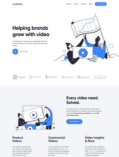 At Studiotale, we create unique, handcrafted videos that convert prospects to customers, educate users and grow brands. Ecommerce Web Design, Web Ui Design, Web Design Trends, Flat Design, Graphic Design, Best Website Design, Nice Website, Website Ideas, Pag Web