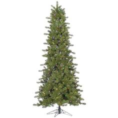 45 PreLit Slim Ontario Spruce Artificial Christmas TreeMultiColor LED Lights >>> Visit the image link more details.