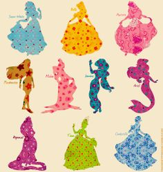 """Disney Princesses-- make a matching game or a """"name that princess"""" party game. If you guys are wondering why I keep pinning party stuff, I've started doing appearances at kids' parties as Disney Princesses! Arte Disney, Disney Fan Art, Disney Magic, Disney Pixar, Disney Characters, Disney Princesses, Disney Dream, Disney Love, Disney Stuff"""