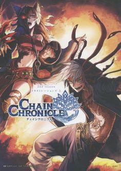 Chain Chronicle Season Illustrations Part I Japan Game Art Book for sale online Old Anime, Manga Anime, Anime Boys, Chain Chronicle Anime, Cd Japan, World Of Darkness, Manga Games, Fire Emblem, Illustration Art