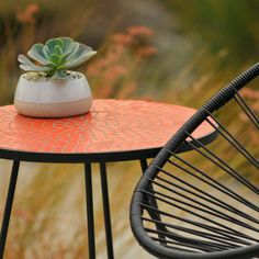 Potted's Newest Design…The Midge – High Style, Low Table