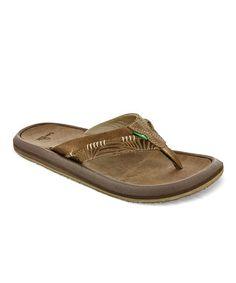 a9b86f335ee10 Sanuk Tan Aloha Cowboy Flip-Flop - Men