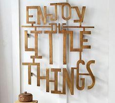 Enjoy The Little Things Wall Art | Pottery Barn