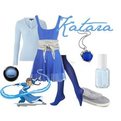 I don't know who Katara is but I like this look.... minus the shoes