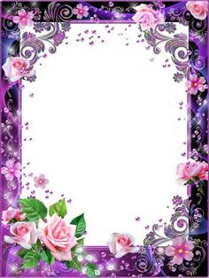 Photo frames - Pink roses in lilac haze