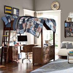 decoholic.org wp-content uploads 2015 03 brown-wood-loft-bed-with-desk.jpg