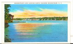 Undated Unused Postcard Skaneateles Lake Looking north toward Skaneateles NY