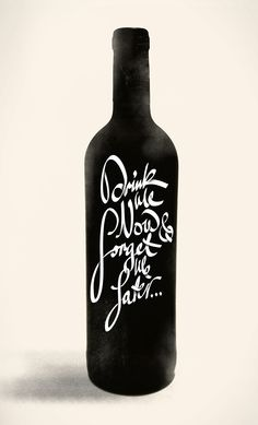 Drink Me Now & Forget Me Later...  Hand lettered script exploration.