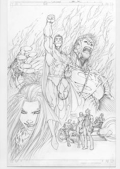 Superman 203 Comic Art