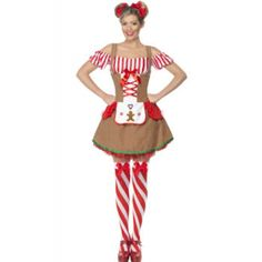 Gingerbread Woman Costume - Womens Costumes - Fancy Dress - Christmas