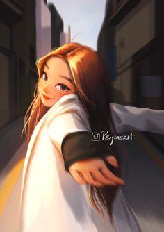 Cartoon Girl Drawing, Girl Cartoon, Digital Art Girl, Cartoon Art Styles, Anime Art Girl, Cute Drawings, Cute Art, Fashion Art, Character Art