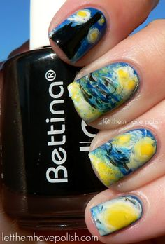 Even if you do not wear nail polish, this is cool!  Let them have Polish!: 31 Days of Nail Art
