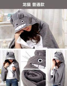Cute Anime My Neighbor Totoro Cloak Cape Costume Air Conditioner Blanket Shawl
