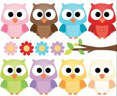 Items similar to Cute Owls Variety - Clip Art Set Digital Elements for Cards, Stationery and Paper Crafts and Products on Etsy Owl Crafts, Diy And Crafts, Crafts For Kids, Paper Crafts, Owl Clip Art, Owl Art, Minis, Owl Classroom, Owl Always Love You