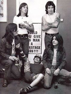 ac/dc ♥♡ one of my favorite photos of the boys
